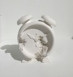 DANIEL ARSHAM - Clock (Future Relic DAFR-03) -  2015 -  Plaster and broken glass -  5 1/2 x 5 x 2 1/2 in. -  Edition of 400 -  Signed and numbered on label on box - Contact us at info@gsfineart.com or call us at 305-456-5478