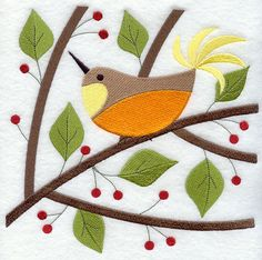 Bird in Berry-Bright Spring
