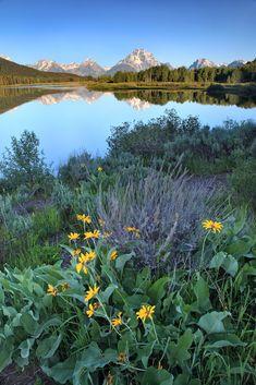 Sunrise at Oxbow Bend by Rob Kroenert ~ Grand Teton National Park, Wyoming.**