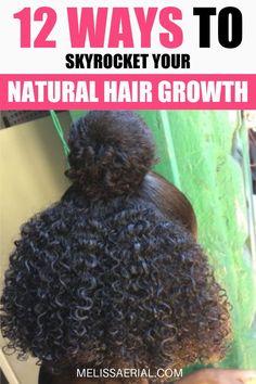 Natural Hair Growth Tips, Protective Hairstyles For Natural Hair, How To Grow Natural Hair, Grow Long Hair, Healthy Hair Growth, Grow Hair, Natural Hair Styles, Long Hair Styles, Hair Growing