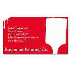 Black Painter Business Cards Painter Business Cards Pinterest - Painter business card template