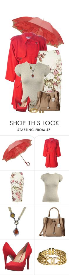 """""""Spring Trench Coat (4.1.17)"""" by stylesbymimi ❤ liked on Polyvore featuring Pasotti Ombrelli, Jean-Paul Gaultier, River Island, Wet Seal, Arunashi, Frye, Jessica Simpson and Chanel"""