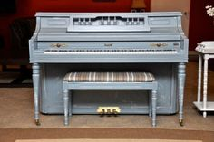 "Kimball Console ""Shabby Chic Blue"""