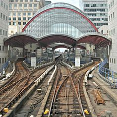 This photo was taken from a departing train at Canary Wharf - Royal Dockside East London, London City, Docklands Light Railway, London Docklands, Local Seo Services, London Places, How To Level Ground, Dog Training, Places To Visit