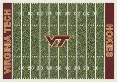 6220cfa57e8 Virginia Tech Hokies 5ft 4in x 7ft 8in NCAA Home Field Area Rug Broncos  Team,