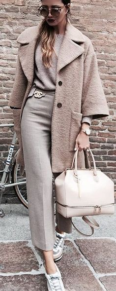 #fall #street #style | Shades Of Beige