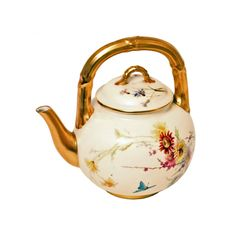 Objet D'art › Ceramics › 19th Century Royal Worcester Tea Pot