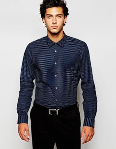 Ted Baker All Over Circle Print in Slim Fit