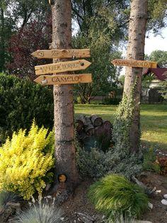 Fantasy city signs for garden