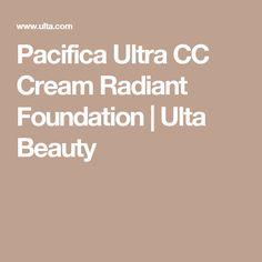 Pacifica Ultra CC Cream Radiant Foundation | Ulta Beauty