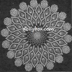 Free Vintage Crochet - Triple Pineapple Doily Pattern