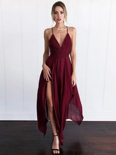 e959e5834d7a 2018 A-line Spaghetti Straps Prom Dresses Custom Burgundy Long Prom Dresses  Evening Dress AMY1149