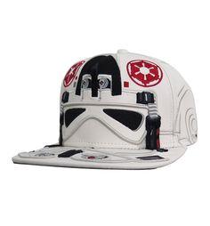 39fe66ab25074 Star Wars AT-AT Pilot Big Face Snapback Hat