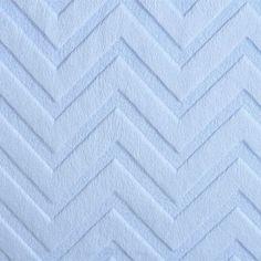 Plush Baby Blue Cuddle Fabric Embossed Chevton