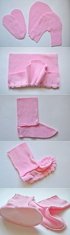 How to sew slippers Bunny MK