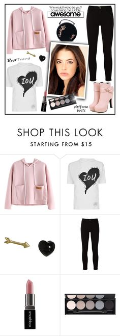 """Pink Top!"" by diane1234 ❤ liked on Polyvore featuring Vivienne Westwood Red Label, Finn, Frame, Smashbox and Witchery"