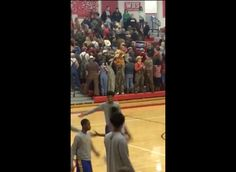 Missouri students hold up Trump sign and turn their backs on black basketball team