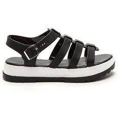 Hip City Flatform Jelly Sandals BLACK