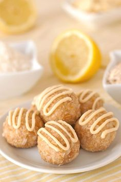 Lemon Coconut Balls – happen to be gluten-free and they're sweetened with just a little maple syrup! With a vegan option and dairy-free.