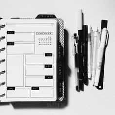 """This week with my favorite bullet journal tools. _____________________________________________• Pilot Gtec C4 • Unipin Fine Line 0.5 • Tombow ABT N95 • Zebra Mildliner Grey • Faber-Castell ECON 0.5 HB • E•Knock Eraser pen • 6"""" generic metal ruler  For those asking what my notebook is.... it's a discbound notebook in a Kikki k personal planner."""