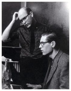 Bill Evans and Jim Hall, during the recording of Undercurrent in 1962