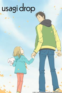 Usagi Drop. The story of a middle-aged dude whose grandfather passes away, leaving a little girl behind. He takes her in, and little do you know, it becomes a heartwarming slice of life that is so, so very sweet. I heard that the manga screws things up a bit so that things get complicated, but the anime was good. :)
