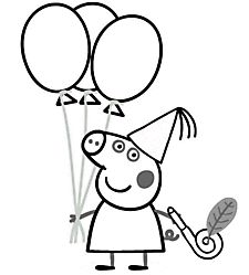 Peppa pig coloring pages for kids printable free  Coloring pages