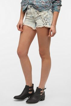 #UrbanOutfitters          #Women #Bottoms           #bdg #embellished #embellishment #cutoff #fringed #comfy #distressed #exclusive #cut #metallic #zip #soft #fit #short             BDG Freja Embellished Short                         Overview:* Soft, washed cutoff jean short from BDG* Topped with metallic and embroidered embellishment at the front* Cut in a comfy, relaxed fit with a low-slung waist* Finished with a fringed, distressed hem* Mid-rise* Zip fly* UO Exclusive Measu…