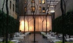Paley Park, 53rd Street between Madison and Fifth.