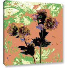 ArtWall Herb Dickinson Poppy Fantasy II Gallery-Wrapped Canvas Art, Size: 24 x 24, Pink