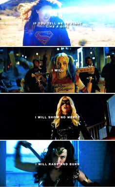 "After all, you asked for it. I fought like a girl. — as if ""fight like a girl"" was an insult #dc"