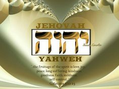 God's name in Hebrew and the fruitage of the spirit Jehovah Names, Names Of God, Psalm 83, Bible Scriptures, Hebrew Bible, Bible Teachings, Bible Covers, Jehovah's Witnesses, Jesus Quotes