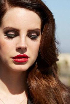 Lana Del Rey in Prada photographed by Francesco Carrozzini for L'Uomo Vogue Italia, October 2014.