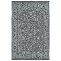 Hand-Knotted Vintage Grey Traditional Rug (9'0 x 12'0) #Unbranded