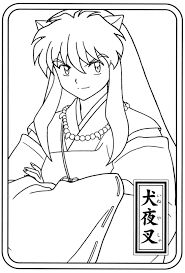 inuyasha coloring page google search - Inuyasha Coloring Pages