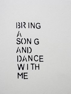 Dance with me...<3