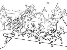 santa's reindeer coloring pages - Google Search