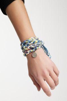 Fabric Braided Wrap Bracelet.