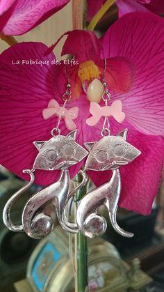CADEAU ORIGINAL BOUCLES D'OREILLES ARISTO CHATS : Boucles d'oreille par la-fabrique-des-elfes