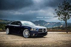 2013 Dodge Charger RT fitted with 22 inch BD-3's in silver.