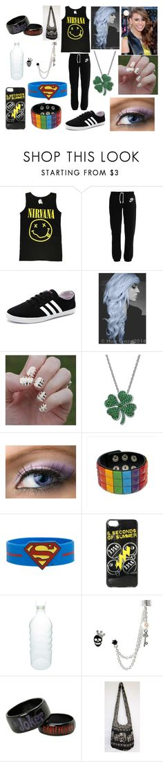 """Dancing to Bo$$ with Dinah-Jane Hansen"" by kitty-styles-horan-biedka ❤ liked on Polyvore featuring beauty, NIKE, adidas NEO, Kaleidoscope, canvas and Betsey Johnson"