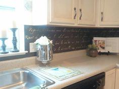 backsplash diy kitchen copper decoupage