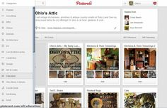 An example of an awful Pinterest experiment with a new look for users' boards.  Can you imagine that ugly bar on your profile page?  Thanks Ohio's Attic for making a screenshot to show what Pinterest is wasting their engineers' and staffs' time on!