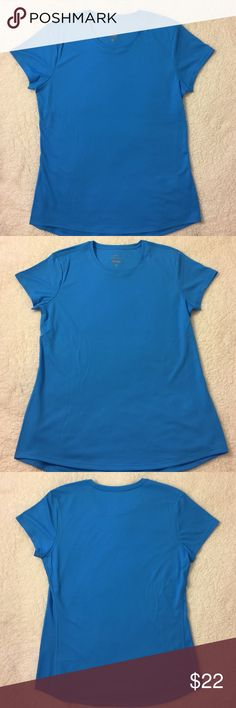 NWOT NIKE Dri-Fit Active Shirt Blue Medium NEW without tags ❣️Womens NIKE Dri-Fit Athletic  Active Shirt ❣️Blue Glow❣️ Medium ❣️Polyester ❣️Light weight ❣️ Nike Tops Tees - Short Sleeve