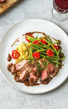 New York Strip Steak with Balsamic Reduction Recipe Steak Recipes, Cooking Recipes, Healthy Recipes, Fancy Recipes, Dinner Date Recipes, Paleo Dinner, Ny Strip Steak, Hello Fresh Recipes, Beef Dishes
