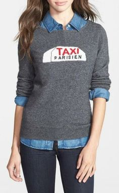 Taxi! Gorgeous cashmere sweater.