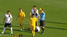 Soccer player accidentally gets himself an extra yellow card