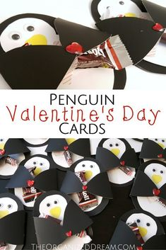Penguin Valentine's Day Cards - The Organized Dream