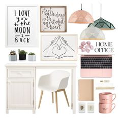 """""""Cute and Girly Home Office 25-9-2017"""" by anamarija00 ❤ liked on Polyvore featuring interior, interiors, interior design, home, home decor, interior decorating, PBteen, Kate Spade, Elizabeth Scarlett and Muuto"""