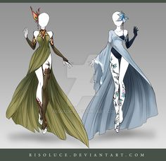 (OPEN) Adoptable Outfit Auction 122-123 by Risoluce.deviantart.com on @DeviantArt